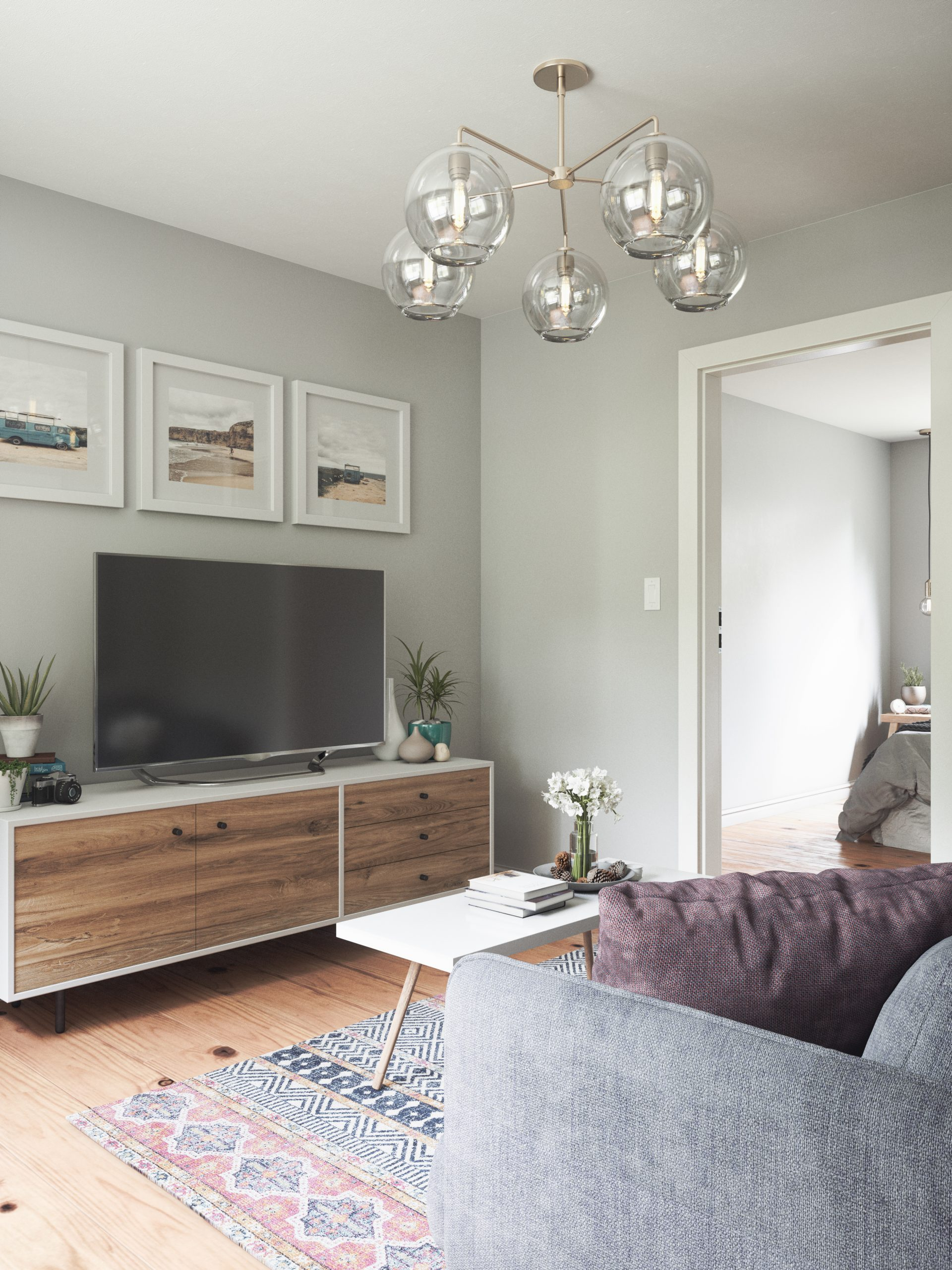 Small Apartment Living Room 01